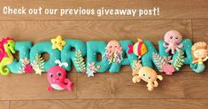 Mermaid and under the sea creatures. Customized felt name banner