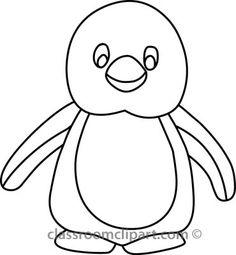 penguin+clip+art+black+and+white | Download penguin_314_05B_outline