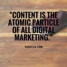 Content is the atomic particle.... by @lieblink #socialmediamarketing #socialmedia #social #socialmediatips #quotes #seo #webmarketing