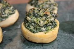 Spinach Stuffed Artichoke Bottoms, sounds delish!