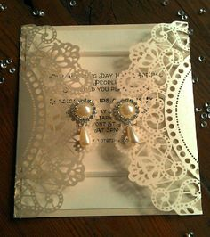"Ivory Pearl Lace Laser Cut Wedding Invitation SAMPLE ""Ophelia"" by CraftyDesignerme on Etsy https://www.etsy.com/listing/199344364/ivory-pearl-lace-laser-cut-wedding"