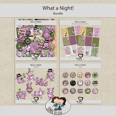 SoMa Design: What a Night! - Bundle Happy Year, Digital Scrapbooking, Kit, Color, Design, Style, Colour, Happy New Years Eve, Design Comics