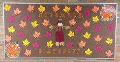 November Birthday Bulletin Board- Fall Leaves
