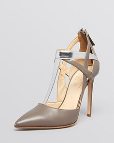 Alejandro Ingelmo Pointed Toe T Strap Pumps - Tara Haze High Heel | Bloomingdale's