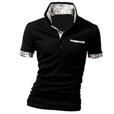 MQ Homme Nouveau Polo Shirts Manche Courte Casual T-shirt Mode Mince Fit Chemise Tee Tops: Attention: 1. La taille est asiatique, elle est…