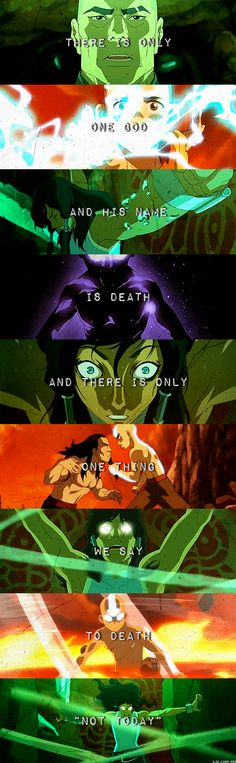 """There is only one god, and his name is death. And there is only one thing we say to death. Not today."" #LoK #GoT"