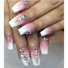 Loving this blingy set using P3 and Whitest White by @yazzy_nails :sparkles::sparkles::sparkles::sparkles::sparkles::sparkles: