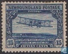 Stamps - Newfoundland - First transatlantic flight 1928