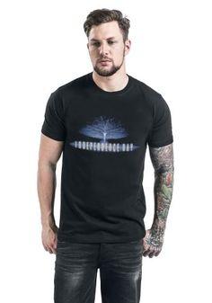 "Classica T-Shirt uomo nera ""Logo"" del film #IndependenceDay."