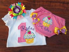 Birthday Onesie and Optional Bloomers and Bow by TwoSewinCute 1st Birthday Outfits, Snuggles, Sassy, Onesies, Rompers, Bows, Trending Outfits, Unique Jewelry, Handmade Gifts