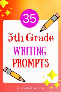 Use these writing prompts for 5th-grade students to help kids express themselves and grow more comfortable with their own thoughts and ideas. Fifth grade is an important time in a child's life, and the positive influence of an activity that promotes self-confidence and self-expression can truly make a difference. via @journalbuddies