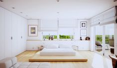 High-quality Homebuilding Magazine - An Excellent Assist In Dwelling Style And Design And Design Wooden Bed Frame, White Walls, Small Master Bedroom Ideas, White Sofa, Tall Windows Small Modern Bedroom, Small Master Bedroom, Quirky Bedroom, Bedroom Brown, Modern Bedrooms, Modern Living, Modern Bedroom Design, Bedroom Designs, Bed Designs