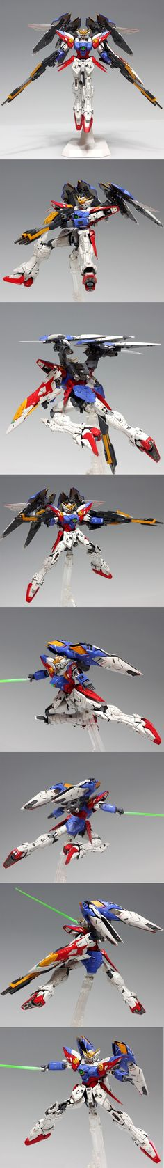 Wing Zero, from Mobile Suit Gundam Wing, and while it doesn't show it here, it can transform into a fighter jet.