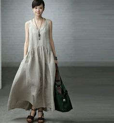linen dress from etsy
