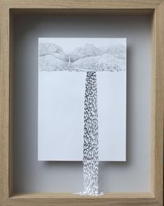 Water Always Finds Its Way II, 2015 Acid-free 160 gsm paper, pencil and acrylic paint cm - paper cut art by Peter Callesen Kirigami, Paper Book, A4 Paper, Peter Callesen, Torn Paper, Paper Artwork, Cool Art Drawings, Paper Frames, Diy Projects To Try