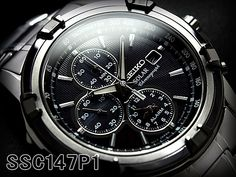 BEST QUALITY WATCHES - Seiko Mens Solar Chronograph SSC147P1, £204.99 (http://www.bestqualitywatches.co.uk/seiko-mens-solar-chronograph-ssc147p1/)
