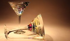 Martini Glasses Glass Sculpture by Fine Art Glass Artist Jack Storms art glass glass sculpture glass art contemporary art modern art contemporary sculpture 6