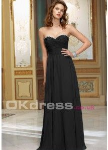 Sweetheart Natural Floor-Length A-Line Long Bridesmaid Dresses