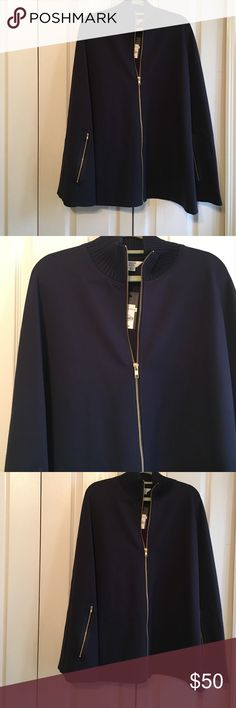 Crown & Ivy Blue Cape NWT One Size NWT Crown & Ivy Blue Cape One Size Jackets & Coats Capes