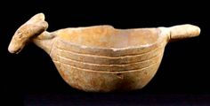 """Fulton Effigy Bowl - This effigy bowl has been viewed either as a deer or a dog - 1.53"""" (3.90 cm) height - 3.14"""" (8 cm) rim diameter - Late Caddo : circa 1400-1650 AD"""