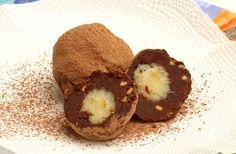 Trufas de chocolate com brigadeiro de cachaça
