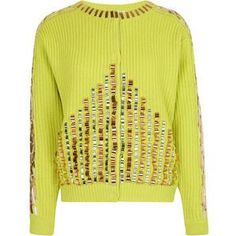 Kenzo Metallic Embroidery on Ribbed Stitch Wool Jacket as seen on Lily Aldridge