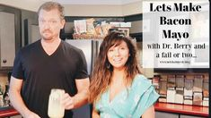 In this video Dr. Ken D. Berry MD and I try to make a simple Keto Bacon Mayo in our home kitchen. This keto recipe is great for those of you wanting to make . Zero Carb Diet, No Carb Diets, Low Carb Keto, Meat Diet, Lchf Diet, Ketogenic Diet, How To Make Mayo, Keto Mayo, Dr Berg