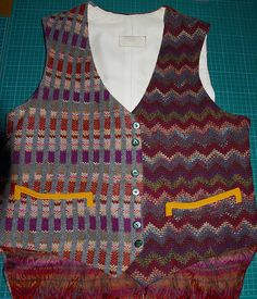 Making My 6th Doctor Costume: Ultimate Six full-fat knitted waistcoat