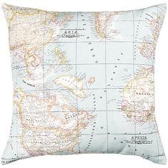 Buy John Lewis Maps Cushion, Blue Online at johnlewis.com