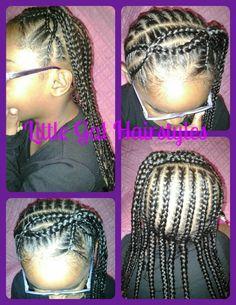 LITTLE GIRL HAIRSTYLES / BRAIDS / PROTECTIVE HAIRSTYLE / HAIRSTYLES / KIDS / BOW  / CORNROLLS / HAIRDO / UPDO / GIRL / TWIST HAIRSTYLE / CROSS BRAID HEADBAND / NATURAL HAIRSTYLES Cute Little Girl Hairstyles, Little Girl Braids, Natural Hairstyles For Kids, Baby Girl Hairstyles, Braids For Kids, Girls Braids, Twist Hairstyles, Swag Hairstyles, Kid Braids