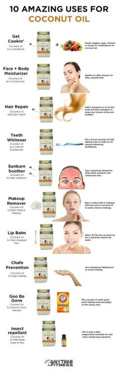 Coconut Oil Uses - your health: 10 amazing uses for coconut oil 9 Reasons to Use Coconut Oil Daily Coconut Oil Will Set You Free — and Improve Your Health!Coconut Oil Fuels Your Metabolism! Beauty Care, Diy Beauty, Beauty Hacks, Hair Repair, Tips Belleza, Belleza Natural, Health And Beauty Tips, Homemade Beauty, Beauty Secrets
