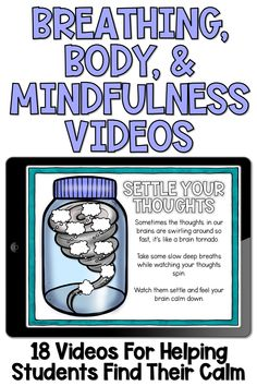 This resource is a set of animated slides/videos for leading your students in various breathing strategies, body relaxation ideas, and mindful activities. Anxiety Activities, Counseling Activities, Mindfulness Activities, Therapy Activities, Therapy Worksheets, Family Activities, Preschool Activities, Elementary School Counseling, School Social Work