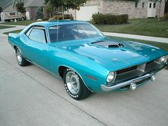 1970 Plymouth Hemi 'Cuda. I can't wait for James Dean Festival! Two City wide car show..yes please