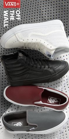 Find these perforated Vans Sk8 Hi's and Slip On's at Zumiez!