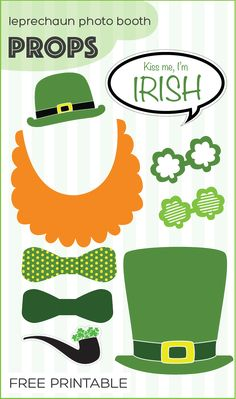 free printable St. Patrick's Day leprechaun photo booth props | www.paperloving.com