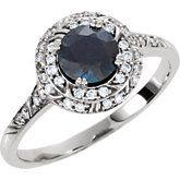 Diamond Sculptural Design Engagement Ring, Semi-mount or Mounting