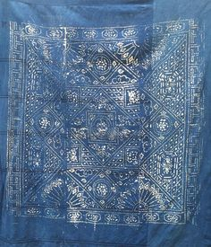 indigo pattern blue print amsterdam  for levis flagshipstores wallpanels