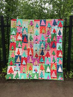 Holiday patchwork forest pattern by Amy Smart Diary of a Quilter Christmas Patchwork, Christmas Quilt Patterns, Christmas Sewing, Christmas Quilting Projects, Christmas Skirt, Purple Christmas, Christmas Tables, Diy Craft Projects, Sewing Projects