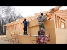 The Finnish frame house in 9 days with your own hands. Step by step Build Your House, Building A House, Porch Addition, Cabana, Architecture Design, Finland, Youtube, Pergola, Cottage