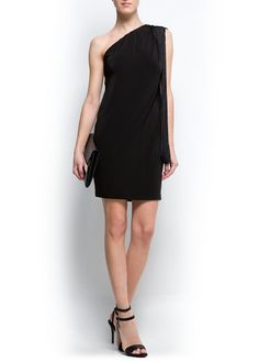 Fringed asymmetric dress