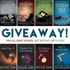 #Giveaway: The Crossfire and Georgian Series by Sylvia Day (#Win All Eight #Books!)