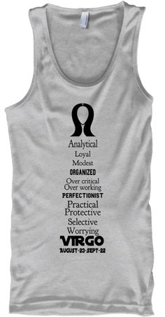 VIRGO-Zodiac-Traits-Tanks-Light #tees #virgotees #zodiactees #zodiacfashion #astrology #womenswear #lighttees #tshirts
