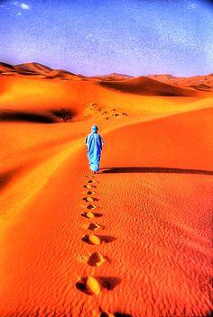 A Walk in the Sand - Morrocco