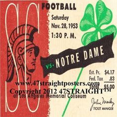 Notre Dame drink coasters, Notre Dame football ticket coasters made from authentic vintage football tickets.