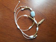 Beaded Necklace, Jewelry, Fashion, Handmade Accessories, Feathers, Hand Made, Beaded Collar, Moda, Jewlery