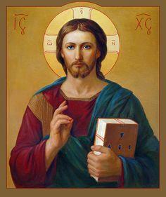 Jesus Christ Pantocrator Painting by Svitozar Nenyuk