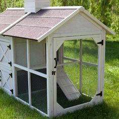 Love this Coop!  Boomer & George Cottage Chicken Coop - Rabbit Cage & Hutch Accessories at Hayneedle