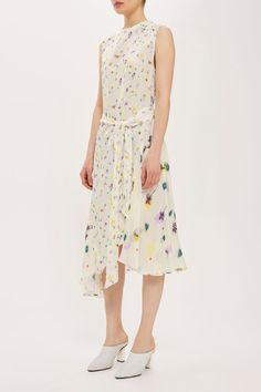 Topshop Ivory/Multi Boutique Floral Mix Asymmetrical Mid-length Casual Maxi Dress Size 6 (S) Dress Outfits, Fashion Outfits, Womens Fashion, Topshop Boutique, Robes Midi, Jacquard Dress, Nordstrom Dresses, Boutique Dresses, Festival Fashion