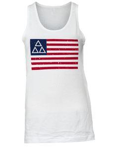 Delta Delta Delta American Flag Tank by Adam Block Design | Custom Greek Apparel & Sorority Clothes | www.adamblockdesign.com | orders@adamblockdesign.com