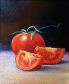 """Daily Paintworks - """"Tomato Harvest """" - Original Fine Art for Sale - © Joe Zona Painting Still Life, Still Life Art, Food Painting, Painting & Drawing, Art Projects, Project Ideas, Mini Paintings, Painting Lessons, Fine Art Gallery"""